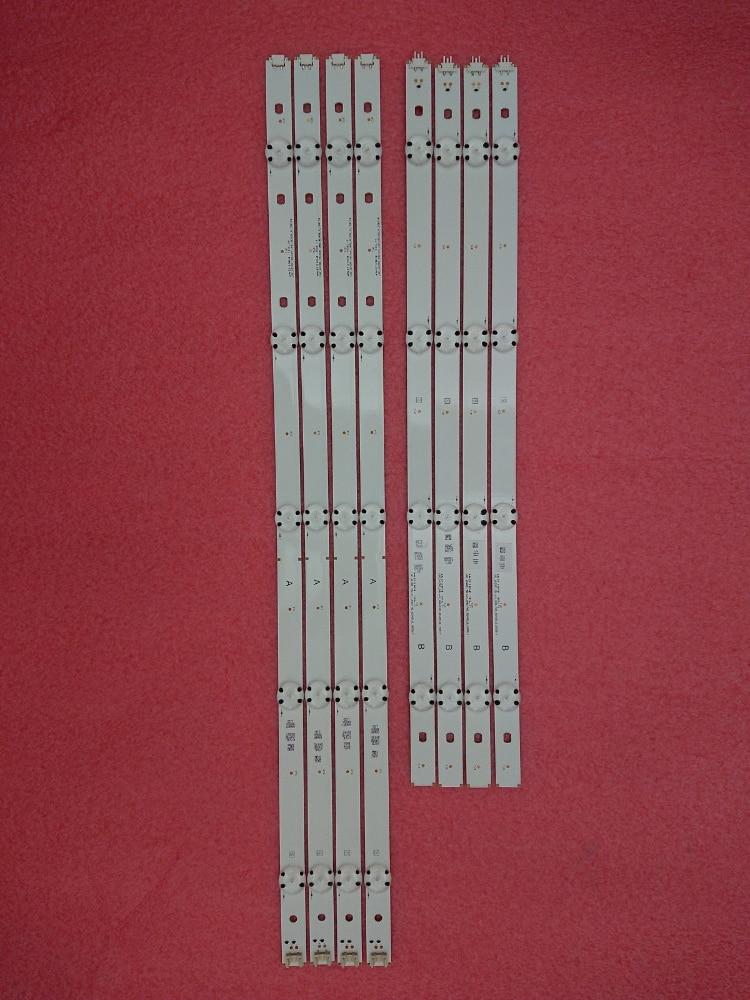 New kit 8 PCS 4 A 4 B LED backlight strip for LG 49LF5500 LGE WICOP