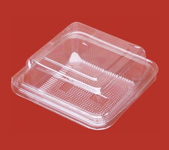 11 * 11 * 6 cm boîte de blister transparent en plastique tartes