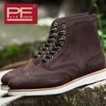 Pathfinder Design de Moda Ao Ar Livre Casuais Sapatos Feitos À Mão de Couro Genuíno Lace-up Estilo Britânico Botas Tamanho 39-44