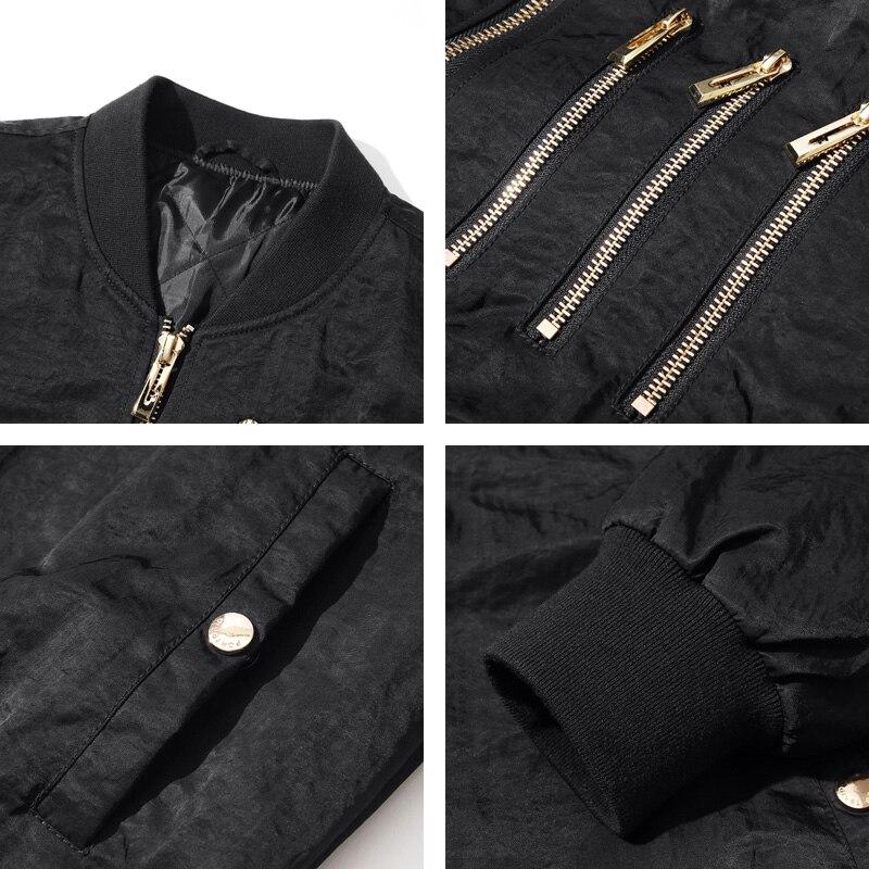 Hop Noir Épais bleu Noir Outwear Hip Décontracté Homme Veste Y13 Coupe Solide Manteau Pilote Streetwear Hiver Slim Blouson 4Fw8XX