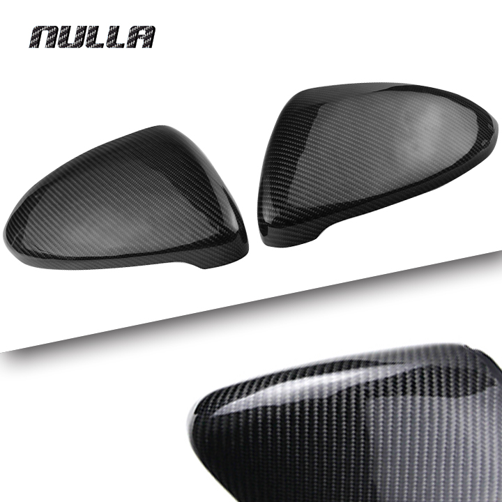 цена на NULLA Carbon Fiber For Volkswagen VW Golf7 Golf 7 MK7 2014 2015 2016 2017 Side Mirror Rearview Cover Frame Replacement Trim