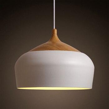 Nordic Japan Aluminum Solid Wood Pendant Light Restaurant Bedroom Living Room Hanging Droplight Art Deco Lighting Abajur