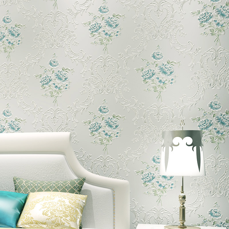 ФОТО beibehang fresh garden gilt flower nonwoven wallpaper the living room backdrop bedroom  TV backdrop aisle papel de parede