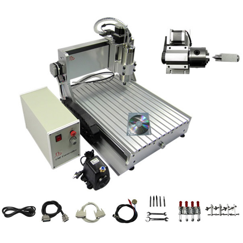 No Tax to Russia Ukraine, 3D CNC Router 3040 Z-VFD 1500W CNC Engraver Cutting Milling Machine with Ball Screw russia no tax 1500w 5 axis cnc wood carving machine precision ball screw cnc router 3040 milling machine