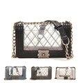 Clássicos saco transparente femme sac a principal sacos das senhoras ombro saco crossbody bolsa de couro da cadeia de bolsa feminina