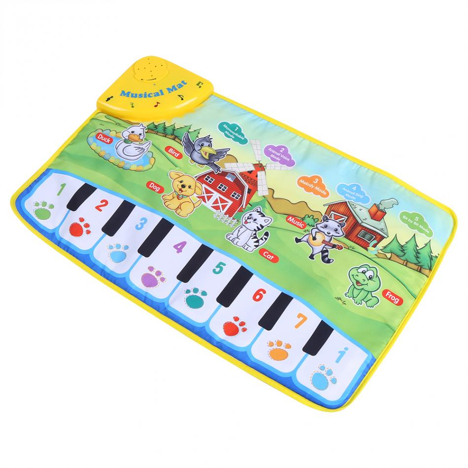 HTB15L OeY1YBuNjSszhq6AUsFXaH 60 * 39CM Baby Music Play Carpet Mat Children Kid Crawling Piano Carpet Educational Musical Toy Kids Touch Paly Game Mats Gift
