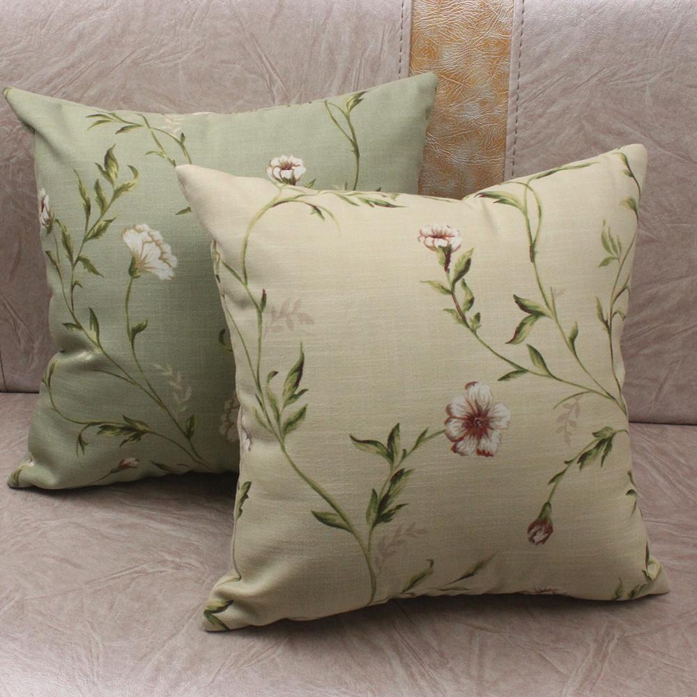 Cuscini Per Divano Beige.Curcya Verde Beige Giardino Flora Pastorale Divano Cuscino