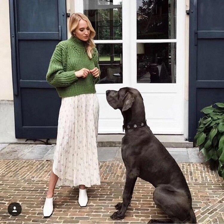 Dames Col Profil vert Pull Le Épaisse Tricoté Barre Beige Haut Et Femmes Europe 2018 Nouvelle Vente Roulé Laine Casual wqaB4