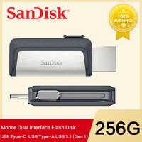 Nueva de 64 GB de sandisk SDDDC2 extrema de alta velocidad tipo C USB3.1 Dual OTG USB Flash Drive 128 GB pluma unidades32 GB 150 m/s