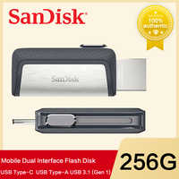 Unidade flash dupla 128 gb/s do usb do otg da movimentação 150 m/s do flash do usb de nueva sandisk 64 gb sdddc2 extremo de alta velocidade tipo c usb3.1