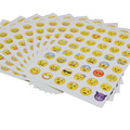 10pcs/Set Emoji Stickers for Kids Toy Cute Cartoon Pegatinas for Notebook/Phone Detector