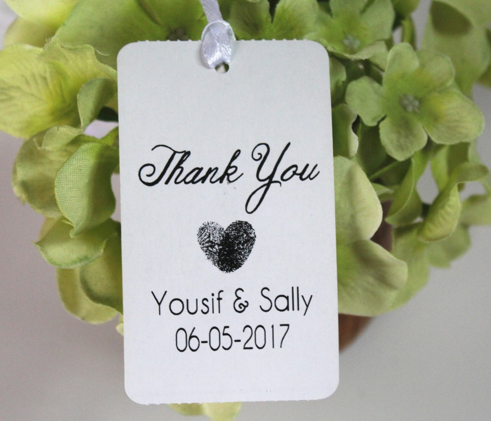 50 Wedding Personalized name date Thank you tags Favors Gift Luggage ...