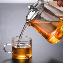 450ml 550ml 750ml 950ml 1300ml Large Capacity Heat Resistant Glass Teapot Tea Set With Stainless Steel Filter For  Black