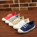Lona de los niños Zapatos de Las Muchachas Zapatos de Suela Suave Con Cordones Planos Ocasionales Niños Bebé Mocasines Moda Zapatos 21-30 (Toddler/Little Kid)