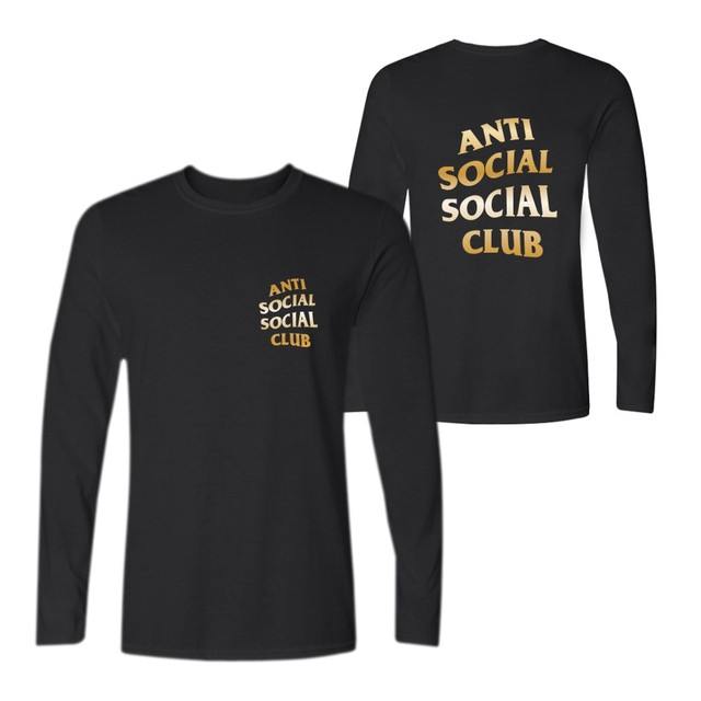 5588461bc4d0 YEEZY ANTI SOCIAL SOCIAL CLUB ASSC Long T-shirt Hip Hop Long Sleeve T  Shirts with Men TShirt Funny in Kanye Yeezy Tee Shirt