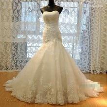 RiLynda Wedding Dresses 2018 Mermaid Side Slit Dress