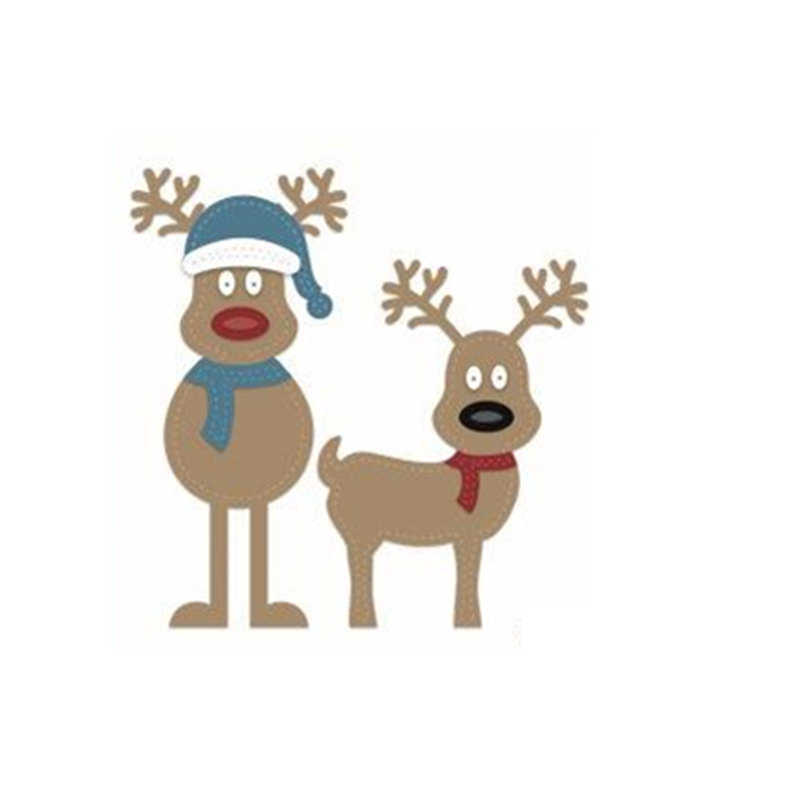 New Arrival Metal Cutting Dies  Christmas deer for Tag Card Scrapbooking Craft Dies DIY Metal Cutting Stencil Dies
