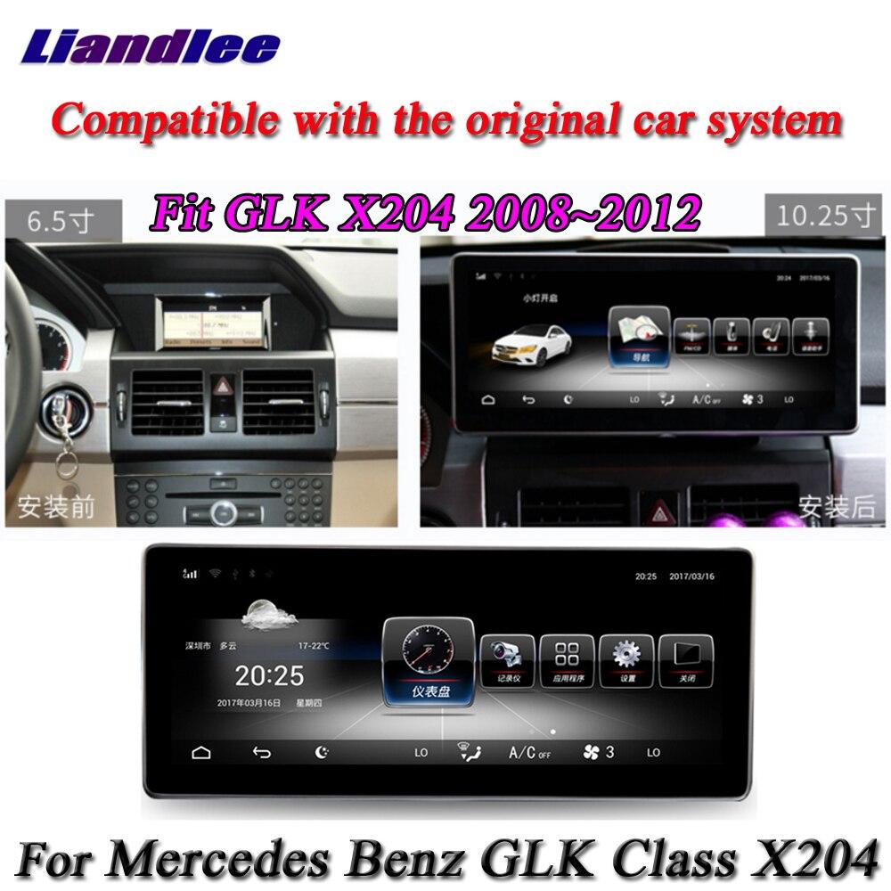 Liandlee For Mercedes Benz MB GLK GLC Class X204 Original Car System Radio AUX BT GPS Navi Map Navigation Multimedia No CD DVD