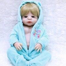 NPK 55 cm de Corpo Inteiro de Silicone Bonecas Reborn Lifelike bonecas reborn bebe Boneca da menina do menino Do Bebê brinquedo Renascido Realista Criança presente