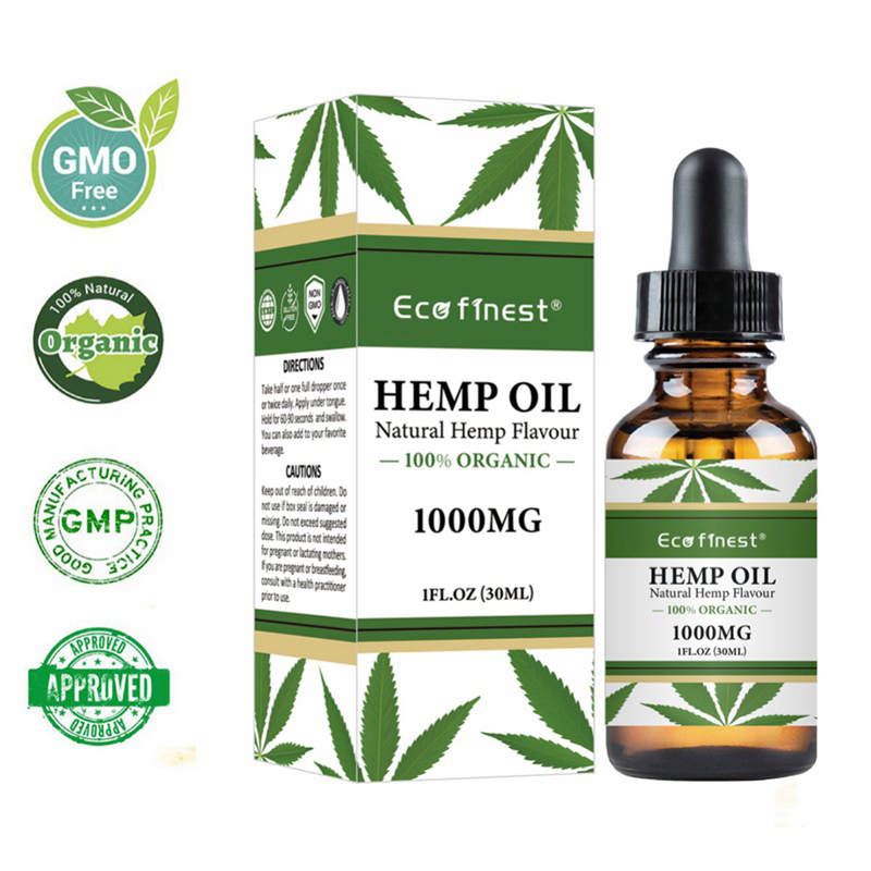 30ml Natural Hemp Seed Oil Essential Oil Natural Anti--Inflammatory Massage Pain Relief Anti Anxiety With 1000mg/5000mg/2500mg