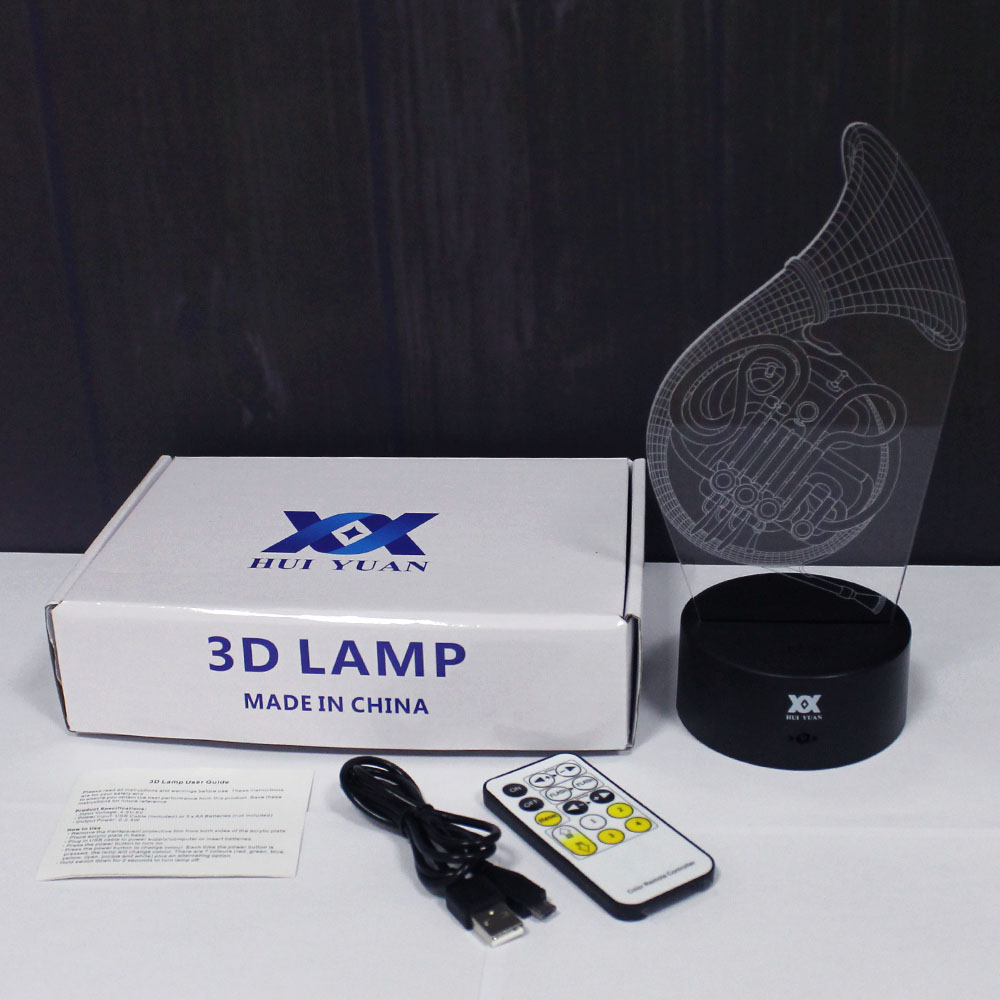 Saxophone 3D Lamp Musical instruments LED Remote Control Night Light - Night Lights - Photo 6
