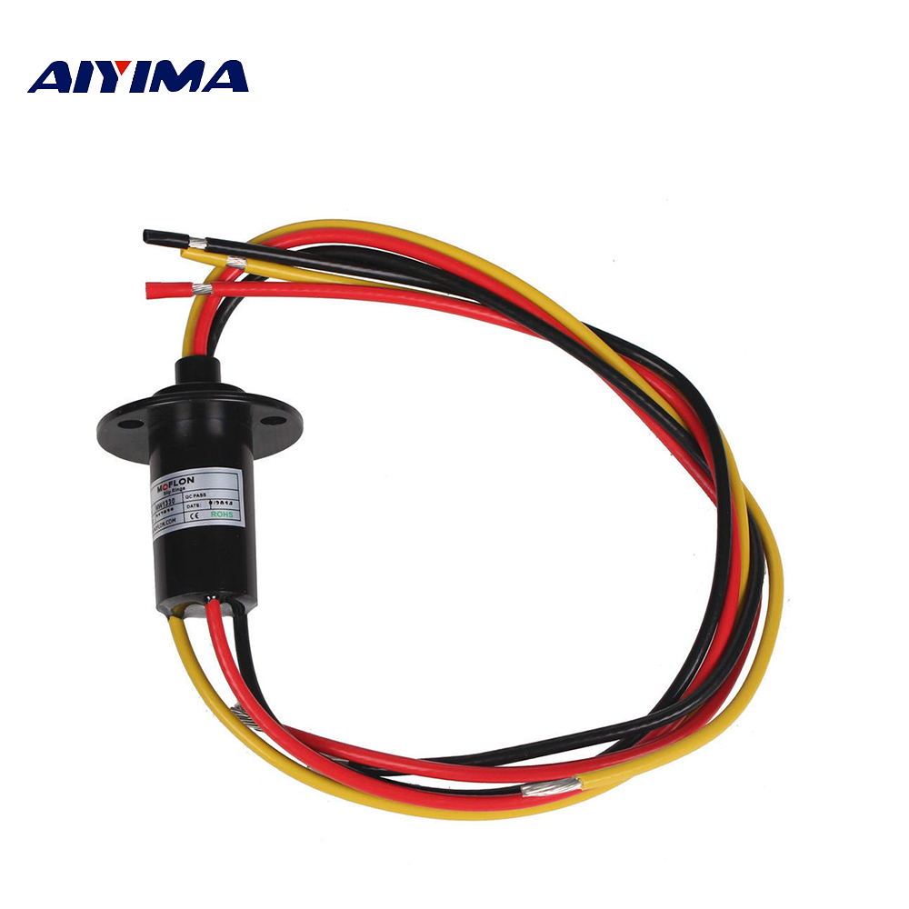 Aiyima NEW 3 Wires Each 15A 250Rpm 600 VDC/VAC Wind Generator Conductive Slip Ring FOR Wind TurbineAiyima NEW 3 Wires Each 15A 250Rpm 600 VDC/VAC Wind Generator Conductive Slip Ring FOR Wind Turbine