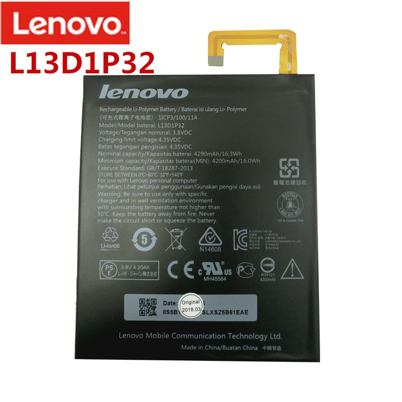 Mobile Phone Parts Tracking Number Mobile Phone Batteries Systematic 100% New Tested 4290mah L13d1p32 Battery For Lenovo Tab Ideapad 8 S8-50f S8-50lc Bateria