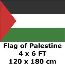 Palästina Flagge 120x180 cm 100D Polyester Large Big Palestinian Fahnen Und Banner National Flag Land Banner(China)
