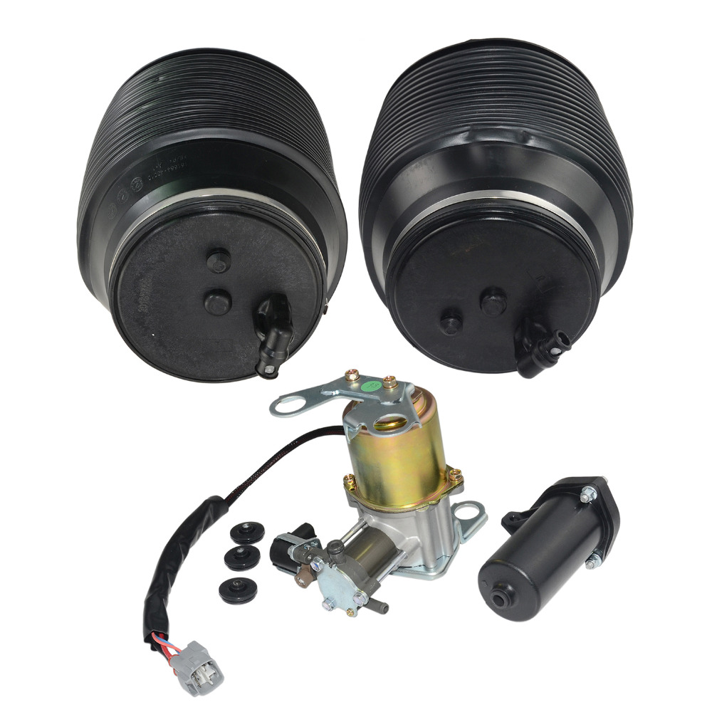 AP01 Air Suspension Compressor & Spring Bags For Lexus GX470 <font><b>Toyota</b></font> <font><b>Land</b></font> <font><b>Cruiser</b></font> Prado 120 J12 <font><b>J9</b></font> image