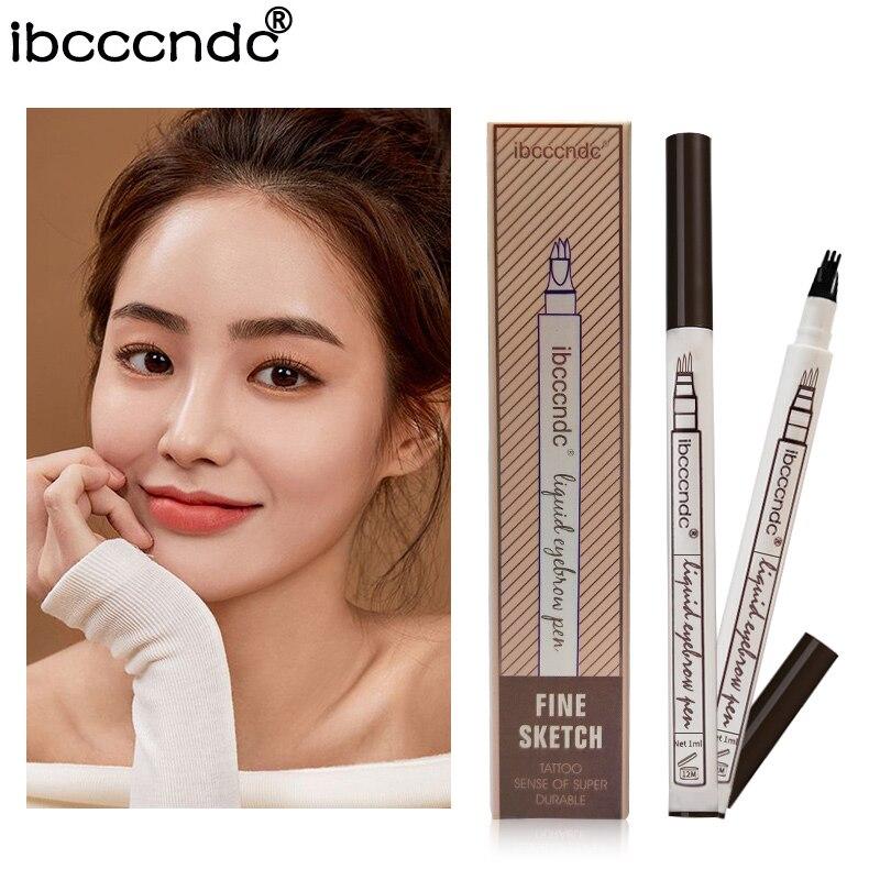 3 sales leader Fine color eyebrow sketching pen waterproof tattoos super durable Microblading eyebrow pencil Smudge-proof