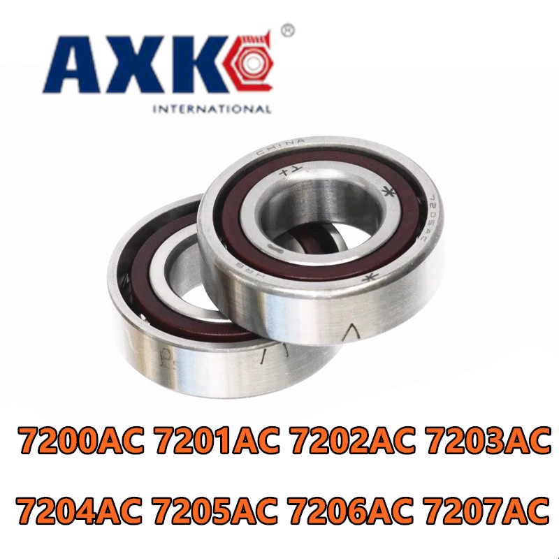 Free shipping  high quality Angular Contact Ball Bearings 7201AC 7202AC 7203AC 7204AC 7205AC 7206AC 7207AC 7208AC P5 1pcs 71901 71901cd p4 7901 12x24x6 mochu thin walled miniature angular contact bearings speed spindle bearings cnc abec 7