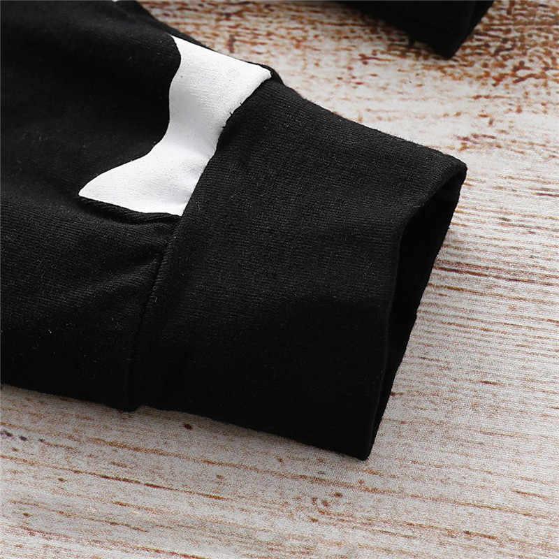 Милый комплект для новорожденных детей от 0 до 18 месяцев, одежда для маленьких мальчиков хлопковые детские комбинезоны с печатью с монстрами черные длинные штаны для малышей, комплект для мальчиков с шапочками
