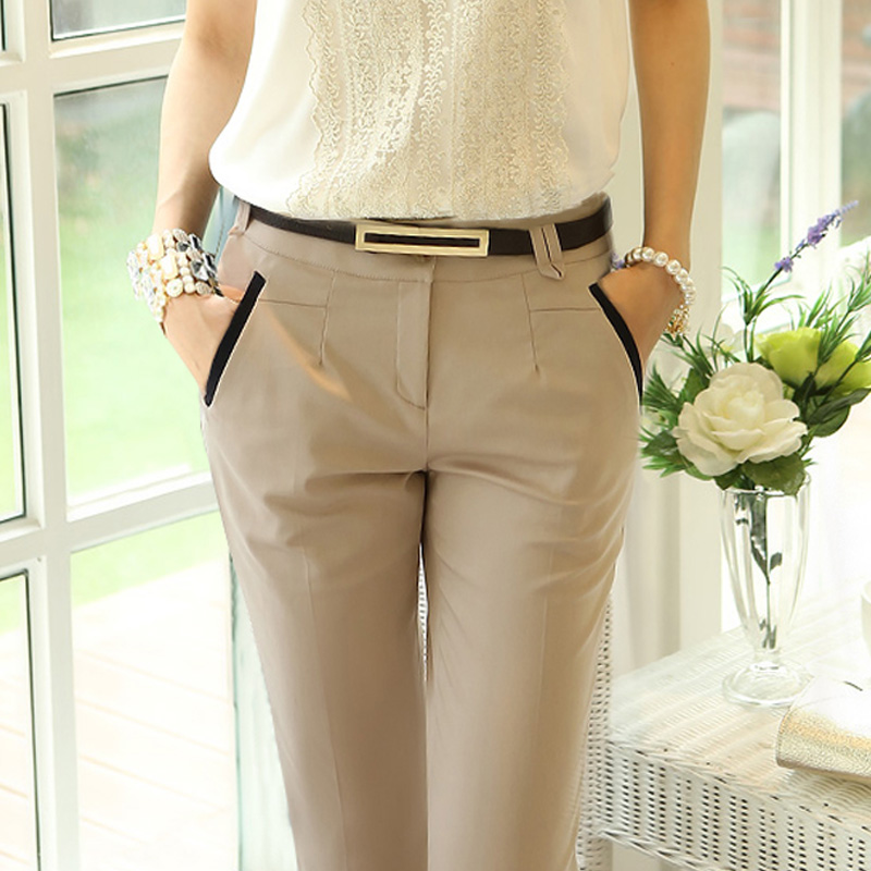 high quality 2018 new fashion summer style women legging pants solid casual female elegant long trousers Ladies size slim pants in Pants amp Capris from Women 39 s Clothing