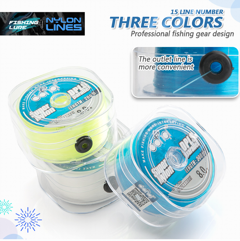DONQL New 200m Nylon Fishing Line Super Strong Monofilament Wire 2-27LB Saltwater Freshwater Fly Fishing Line With Box Tool (9)