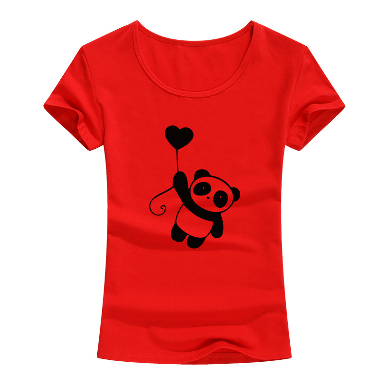 Funny Panda  Printed T Shirt Women Summer Fashion Cotton O-neck Tops Teees For Women Cute Animal Clothing Camiseta