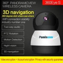 360 глаза беспроводной снеговика робот Wi-Fi IP Камера EC50 2MP 360 градусов PTZ камера охранного видеонаблюдения для домашнего применения Камера Видеоняни и радионяни голосовой домофон