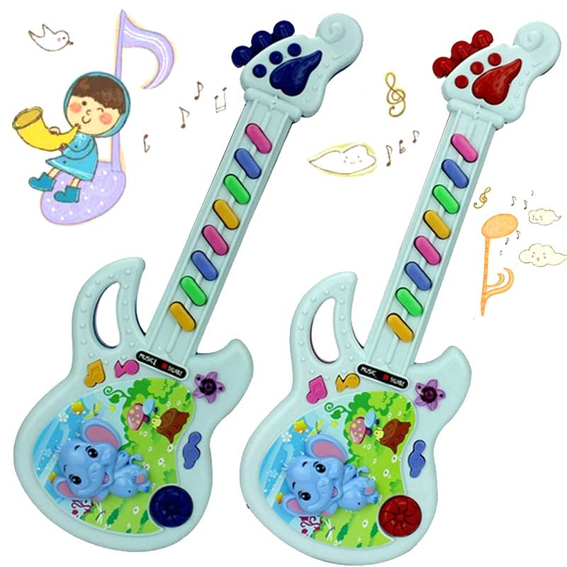 1 piece Musical Educational Toy Baby Kids Children Portable Guitar Keyboard Developmental Cute Toy 17 FJ88