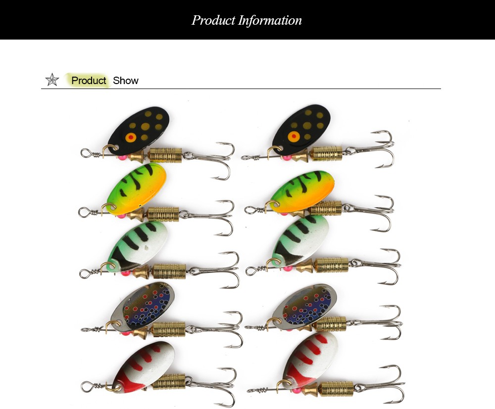 4pcs//lot Fishing Lure Spinnerbait Worm Insect Lead Spoon Bait Trout Bass Tackle