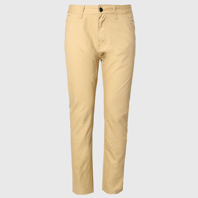 e5fade701ca7 Men Thin Chino Pants Male Long Straight Trousers Cotton Casual Fit Bottoms  Korean Pattern England Style