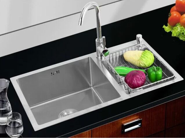Luxurious 304 stainless steel handmade kitchen sink / rectangular ...