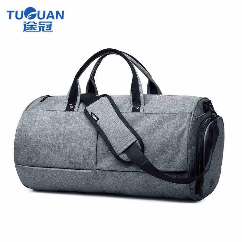 2018 TUGUAN Brand Design Waterproof Unisex Men Fashion Travel Luggage Bags Big Capacity Women Handbag Messenger Totes Bag Black недорго, оригинальная цена