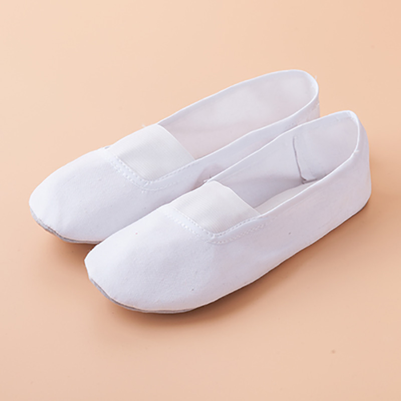 USHINE EU22-45 Black White Flat Yoga Teacher Fitness Gymnastic Ballet Dance Shoes For Children Woman Man
