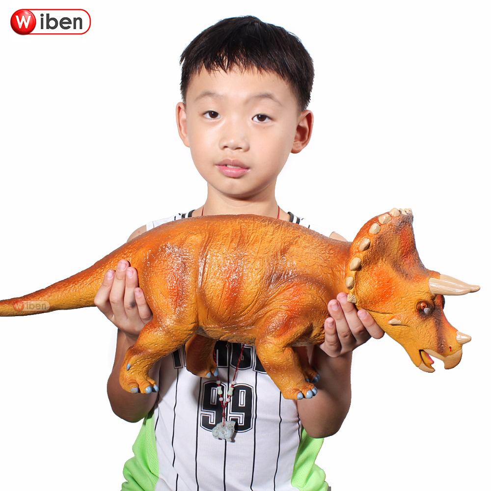 Jurassic Big Dinosaur Toy Triceratops Soft Plastic Animal Model Action & Toy Figures Kids Toys Gift