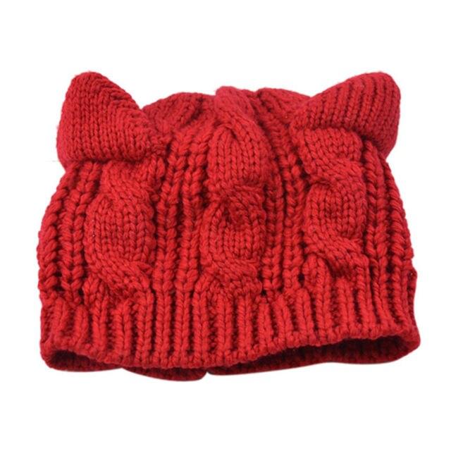 1 unids nuevas mujeres Beanie Ski punto sombrero gorras de invierno ...