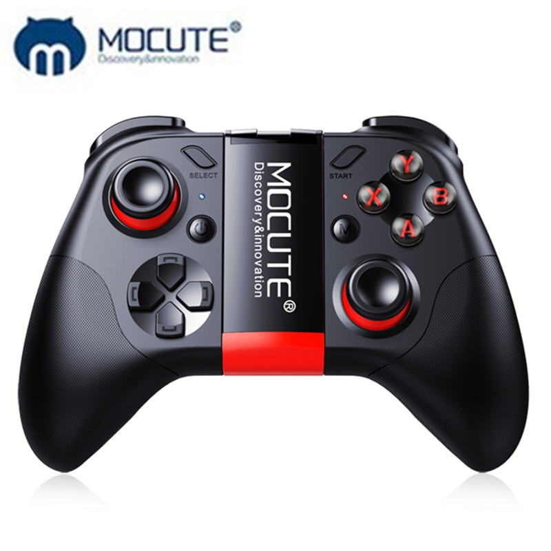 MOCUTE 054 Wireless Jogo Do Bluetooth Controlador Joystick Gamepad Para Android/iSO Mini Telefones Gamepad Tablet PC caixa de VR