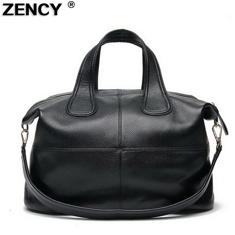 34b22950705 Large Size Luxury Famous Brand 100% Genuine Leather Women s Handbags  Satchel Tote Ladies  Shoulder Large Bags Purse Luggage