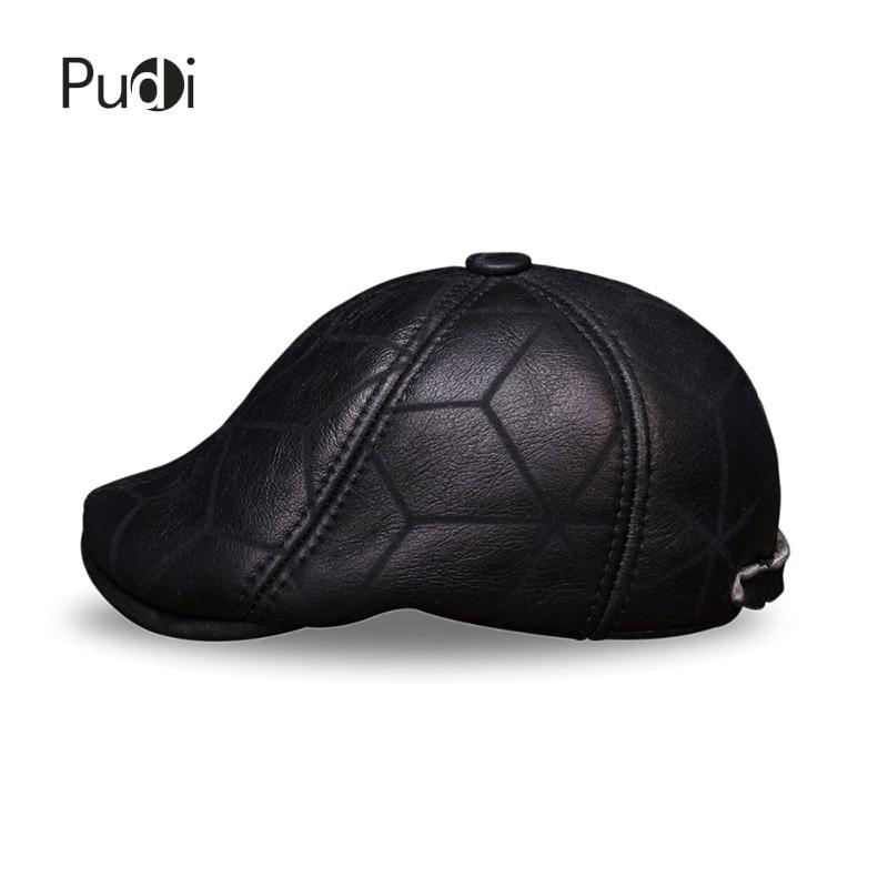 HL113 prava kožna kapa bejzbol kapa zima topla ruska starica beretka - Pribor za odjeću - Foto 3