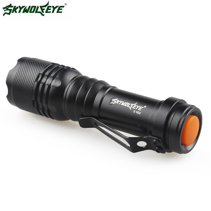 High Quality  skywolfeye 2000LM   Q5 AA/14500 3 Modes ZOOMABLE LED Flashlight Torch Super Bright