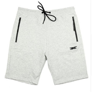 Image 4 - High Quality Cotton Men Fitness casual Brand Shorts Summer 2019 New Fashion The Pocket Zipper Garnish Jogger Red Short Pants