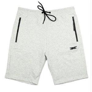 Image 4 - Pantalones cortos de algodón de alta calidad para hombre, Shorts informales de marca, a la moda, con bolsillos y cremallera, color rojo, para correr, para verano, 2019
